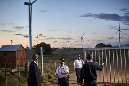 Credit: Ed Robinson/OneRedEye  G4S Plc. Manned gate and security patrols at a windfarm in South Africa. Credit: Tom Parker/OneRedEye