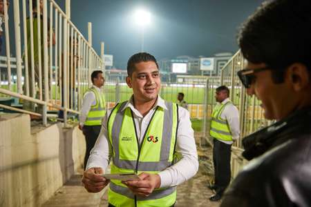 G4S Plc UAE  G4S Plc UAE Event security at the Al Sharjah Stadium in the UAE. Security personnel patrol and observe, safety check stands, scan attendees and check their tickets. Credit: Tom Parker/OneRedEye